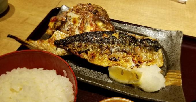 魚盛定食の焼き魚