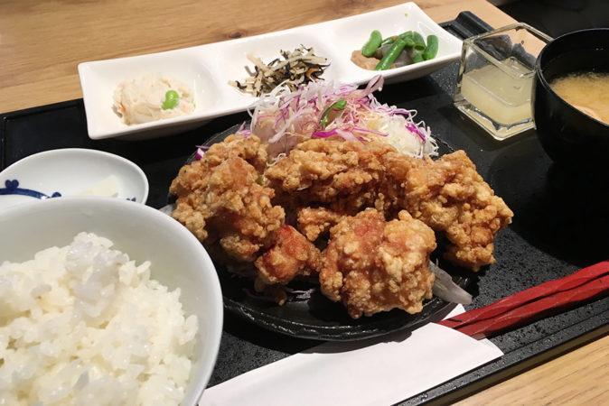 鶏とお野菜 はーばーどのランチ「若鶏の竜田揚げ おろし塩ポン酢定食」