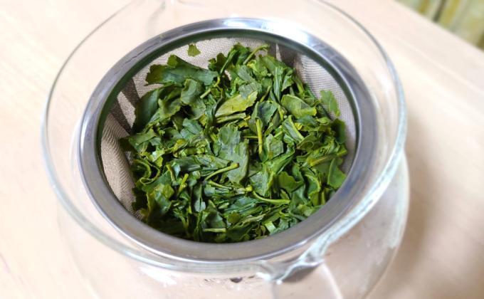 五ヶ瀬釜炒り新茶を淹れた後の茶葉
