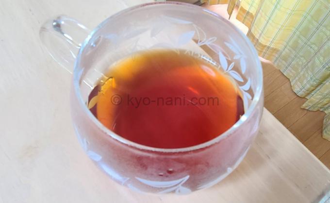 ルピシアのベル・エポックをカップに淹れて上から見た写真