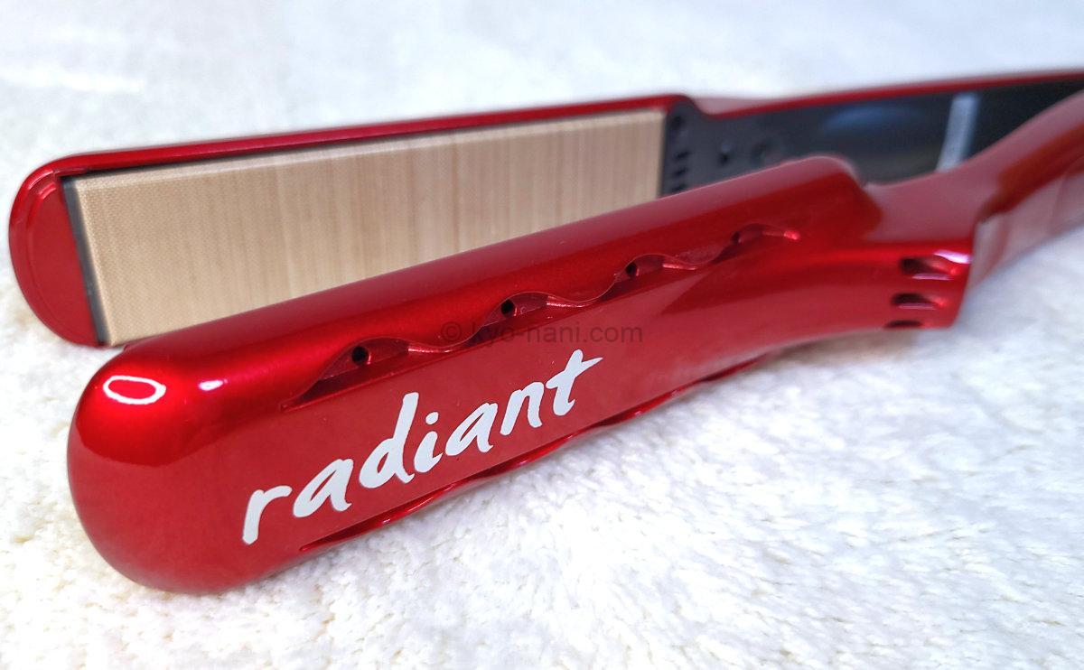 ストレートアイロン radiant(ラディアント)のプレート部分の写真